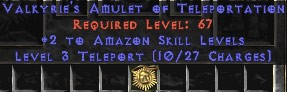Amazon Amulet – 2 All Zon Skills & Teleport