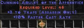 Assassin Amulet – 3 Traps & 10% FCR