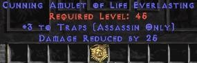 Assassin Amulet – 3 Traps & 25 PDR
