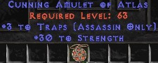Assassin Amulet – 3 Traps & 30 Str