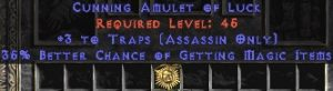 Assassin Amulet – 3 Traps & 35% MF