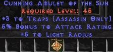 Assassin Amulet – 3 Traps & 5% AR