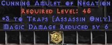 Assassin Amulet – 3 Traps & 6 MDR
