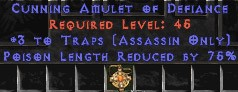 Assassin Amulet – 3 Traps & 75% PLR