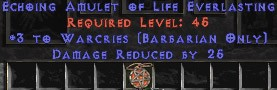 Barbarian Amulet – 3 Warcries & 25 PDR