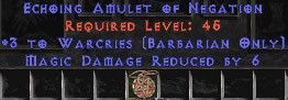 Barbarian Amulet – 3 Warcries & 6 MDR