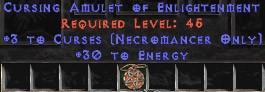 Necromancer Amulet - 3 Curses & 30 Energy