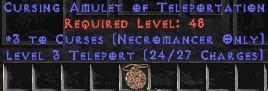 Necromancer Amulet - 3 Curses & Teleport