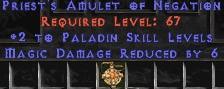 Paladin Amulet - 2 All Pal Skills & 6 MDR