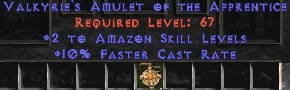 Amazon Amulet – 2 All Zon Skills & 10% FCR