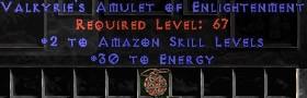Amazon Amulet – 2 All Zon Skills & 30 Energy