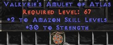 Amazon Amulet – 2 All Zon Skills & 30 Str