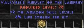 Amazon Amulet – 2 All Zon Skills & 6% LL