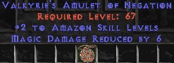 Amazon Amulet – 2 All Zon Skills & 6 MDR