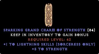 Sorceress Lightning Skiller +4-5 STR