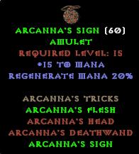ARCANNA'S SIGN
