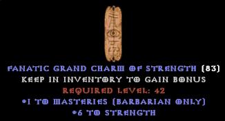 Barbarian Masteries Skiller +6 STR