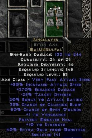 Kingslayer Ettin Axe +230-289% ED