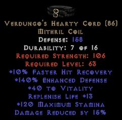 Verdungo's Hearty Cord - Perfect